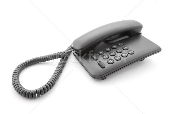 Preto escritório telefone macio sombra branco Foto stock © sqback