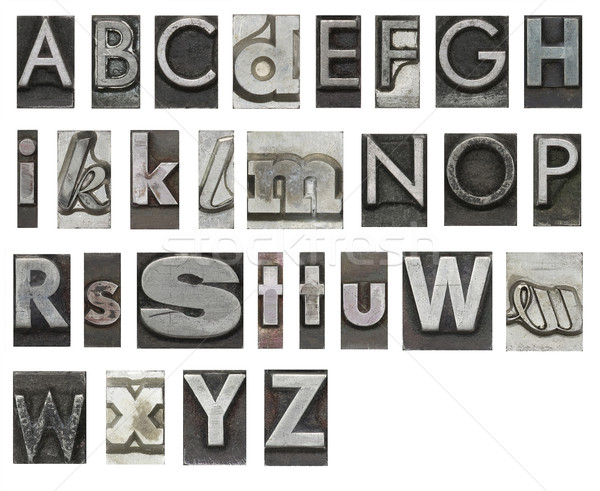 Block letters isolated on white Stock photo © sqback