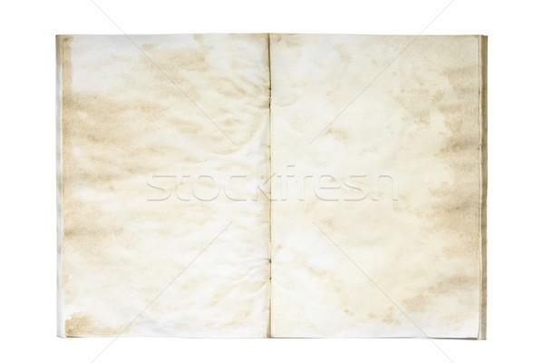 オープン 古い 汚い 練習帳 図書 背景 ストックフォト © sqback