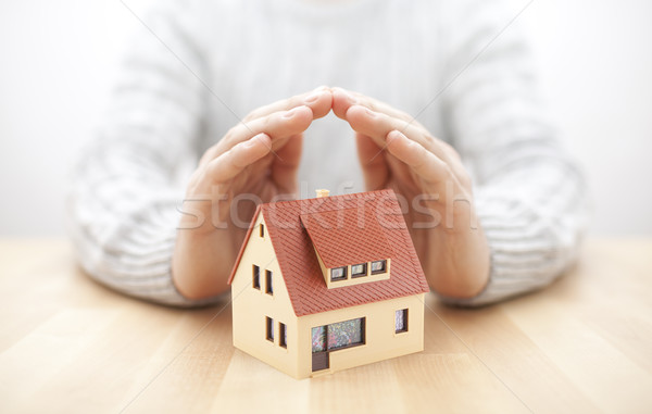 Stockfoto: Huis · business · hout · bouw · home