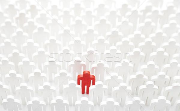 Unico persona folla uomo lavoro gruppo Foto d'archivio © sqback