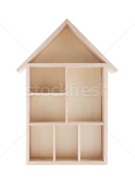 дома шельфа изолированный белый Сток-фото © sqback