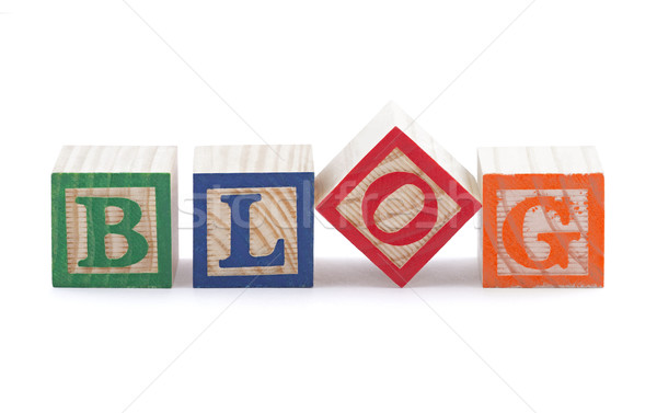 Alphabet blocks spelling the word BLOG with clipping path Stock photo © sqback