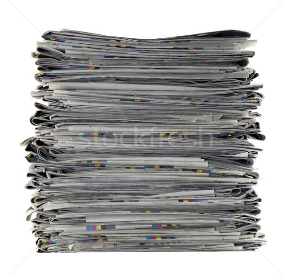 Gazety papieru wiadomości komunikacji Zdjęcia stock © sqback