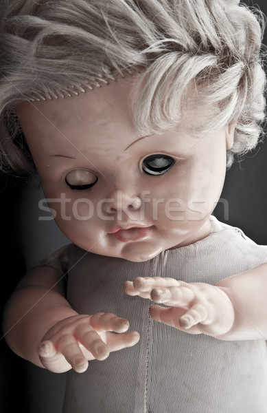 Creepy doll face Stock photo © sqback