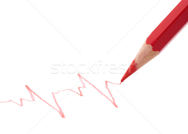 Drawing heart beat Stock photo © sqback