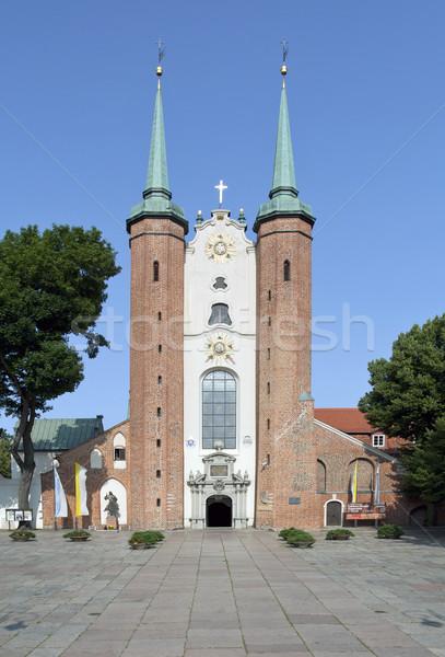 Basilica danzica Polonia cielo chiesa Foto d'archivio © sqback
