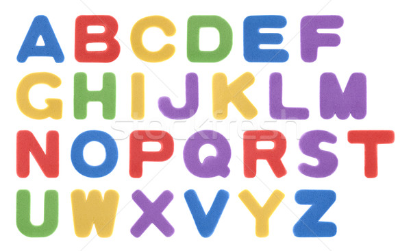 Colorful foam alphabet isolated on white  Stock photo © sqback