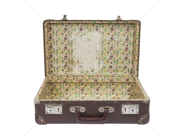 Edad maleta retro cuero vintage Foto stock © sqback