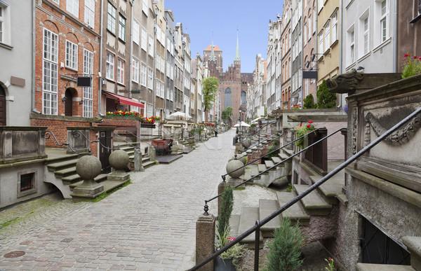 Strada città vecchia danzica Polonia casa costruzione Foto d'archivio © sqback