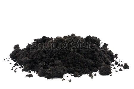 Bodem geïsoleerd witte natuur zwarte Stockfoto © sqback