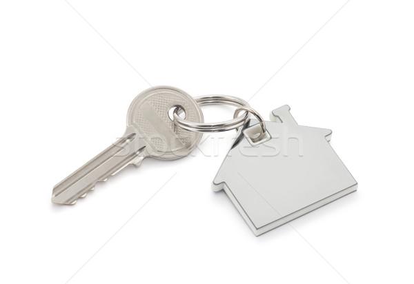 Casa clave edificio construcción financiar Foto stock © sqback