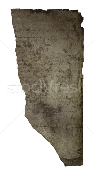 Torn piece of paper with clipping path Stock photo © sqback