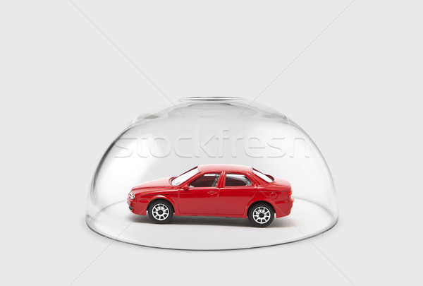 Red car protected under a glass dome  Stock photo © sqback