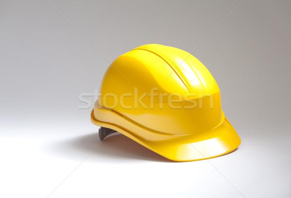 Amarillo trabajo industrial sombrero estudio Foto stock © sqback