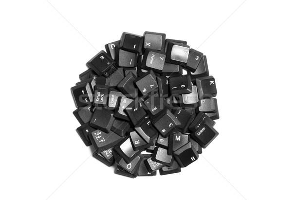 Zwarte computer sleutels geïsoleerd witte kantoor Stockfoto © sqback