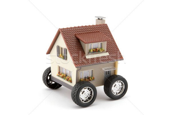 House on wheels isolated on white with clipping path  Stock photo © sqback
