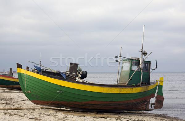 Pescador barco agua naturaleza mar verde Foto stock © sqback