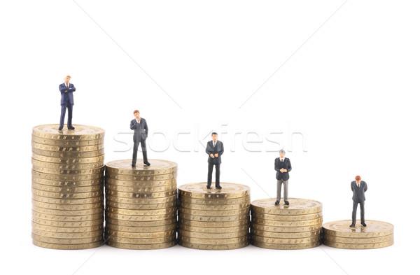 Stockfoto: Business · munten · zakenman · financieren · grafiek · voorraad