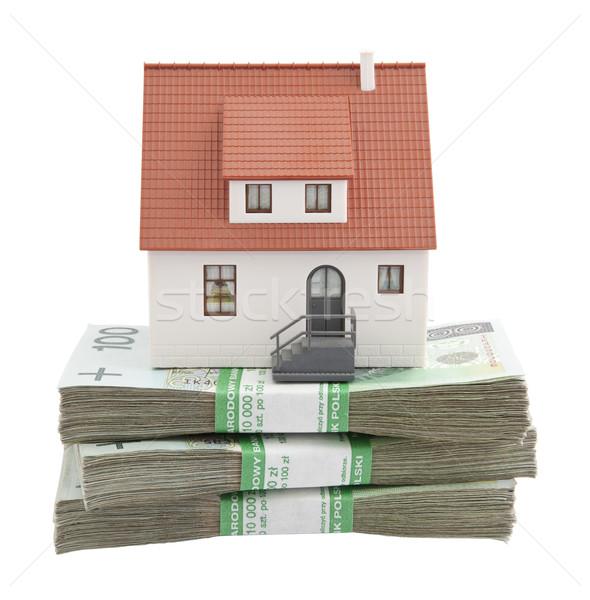 Casa dinero construcción casa banco Foto stock © sqback
