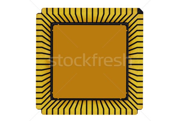 Computer processor isolated on white Stock photo © sqback