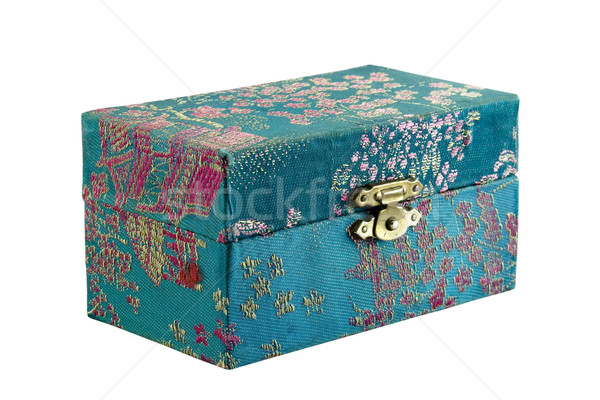 Small patterned box isolated on white Stock photo © sqback