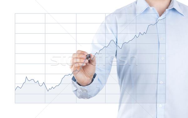 Foto stock: Joven · creciente · tabla · hombre · empresario · hombres