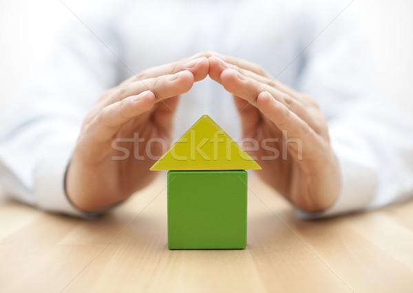 Ev eller adam inşaat model Stok fotoğraf © sqback
