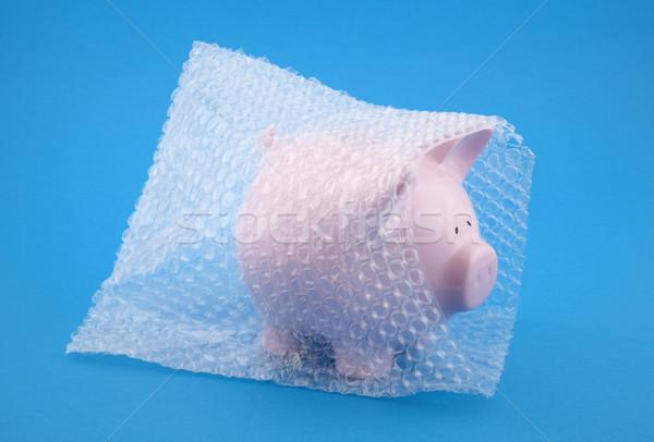 Alcancía burbuja dinero cuadro Foto stock © sqback