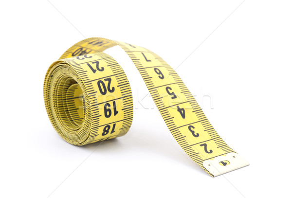 Stock photo: Tailor measuring tape with soft shadow