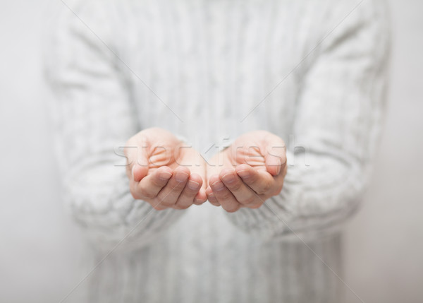 Open hands. Holding, giving, showing concept.  Stock photo © sqback