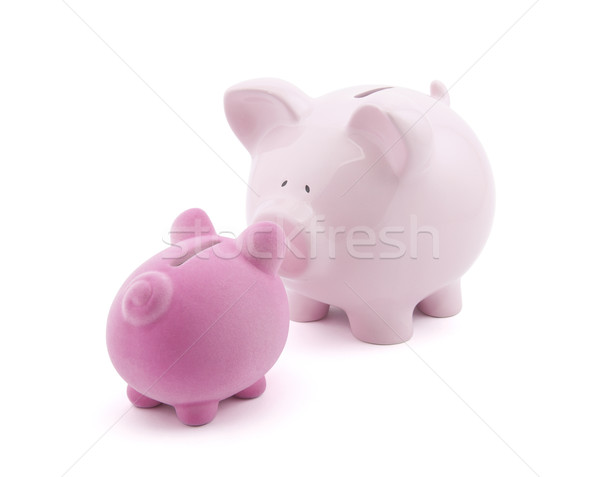 Two piggy banks with clipping path Stock photo © sqback