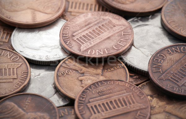 Americano monedas dinero fondo metal financiar Foto stock © sqback