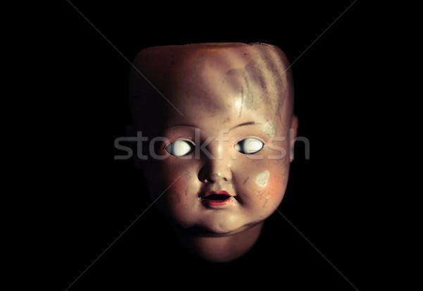 気味悪い 人形 顔 レトロな 暗い 頭 ストックフォト © sqback