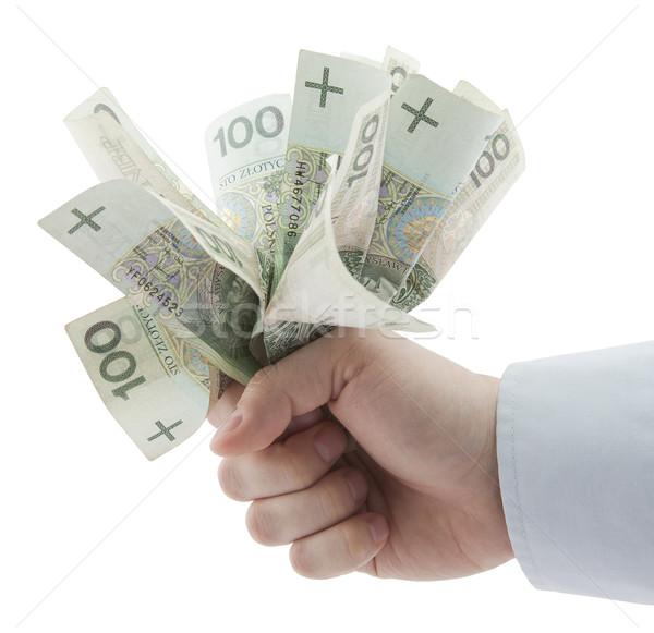 Dinero mano financiar banco efectivo Foto stock © sqback