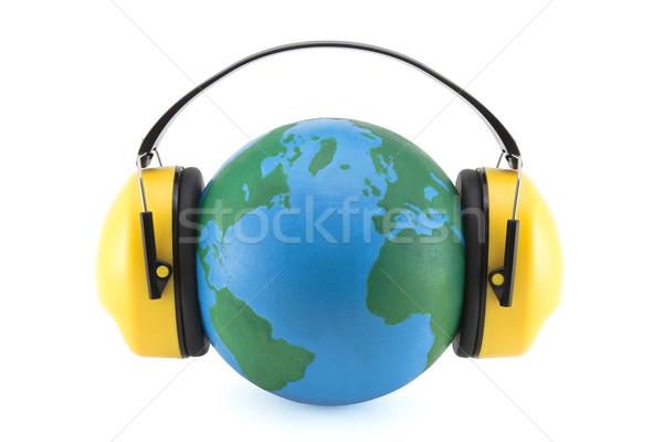Ochrony hałasu charakter ziemi zielone niebieski Zdjęcia stock © sqback