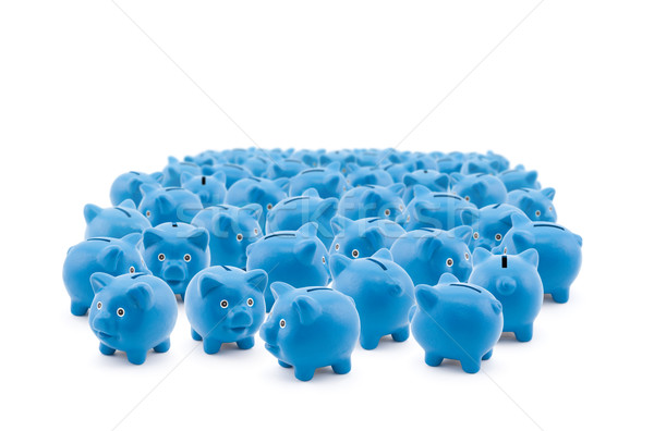 Large group of blue piggy banks Stock photo © sqback