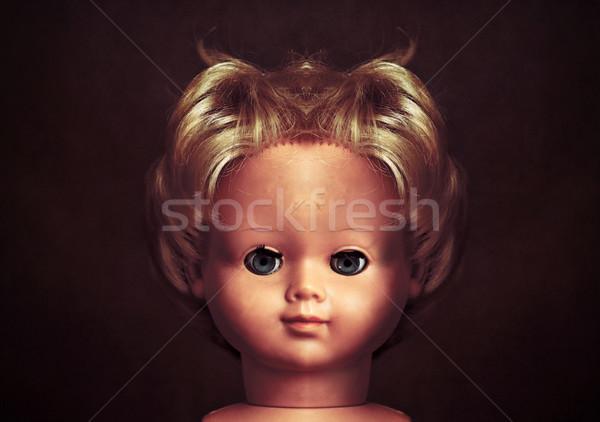 Arrepiante boneca cara retro cabeça diabo Foto stock © sqback
