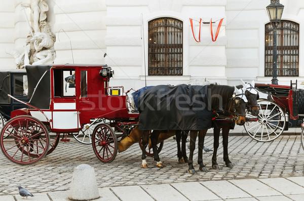 Parking Vienne Autriche maison cheval rétro Photo stock © SRNR