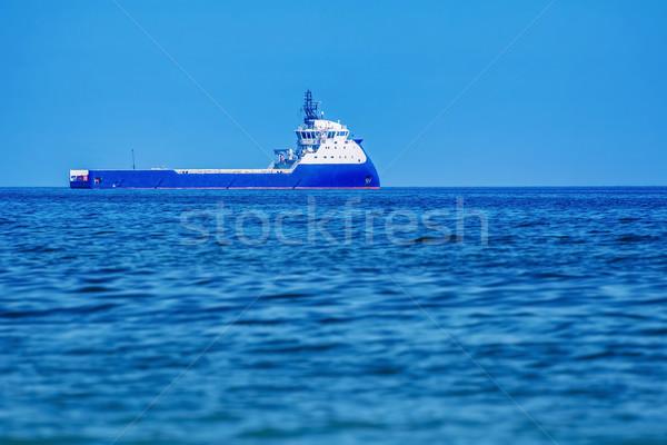 Offshore leveren schip zwarte zee water Stockfoto © SRNR