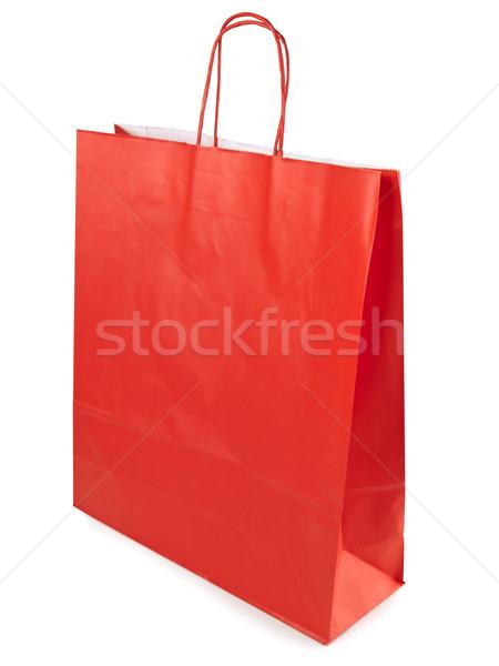 Zakupy torby papierowe czerwony biały papieru worek Zdjęcia stock © SRNR