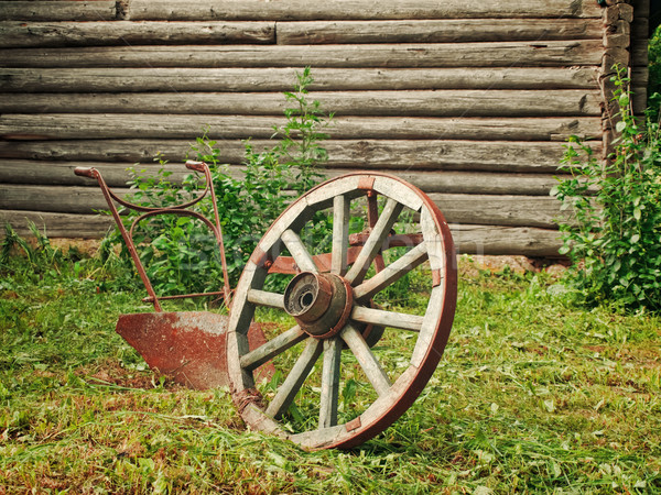 wheel and plough Stock photo © SRNR