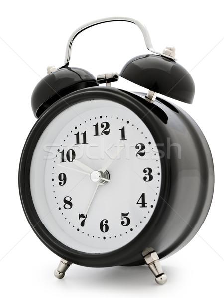 ébresztőóra klasszikus fehér idő retro óra Stock fotó © SRNR