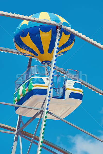 Grande roue cabine ciel bleu amusement parc Swing Photo stock © SRNR