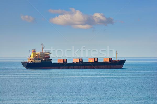 Bulk Carrier in the Sea Stock photo © SRNR