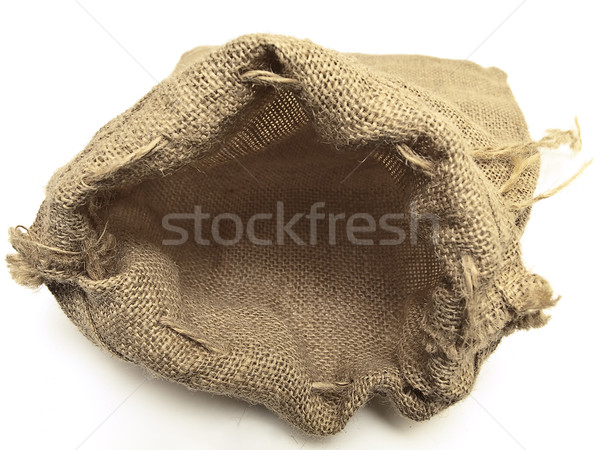 open beige linen sack with the braids  Stock photo © SRNR
