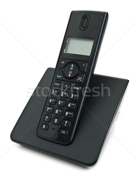 コードレス 電話 白 黒 現代 行 ストックフォト © SRNR