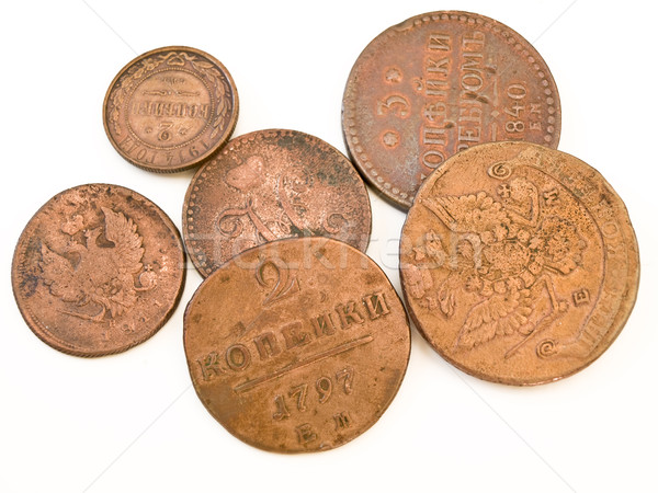 Old russian coins Stock photo © SRNR