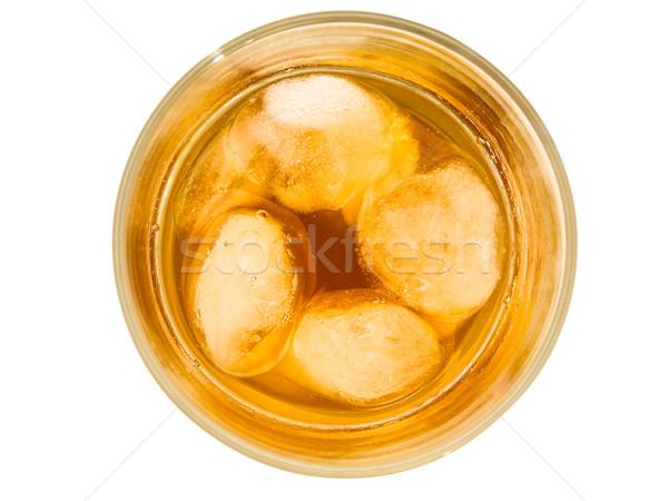Uísque vidro beber álcool líquido Foto stock © SRNR