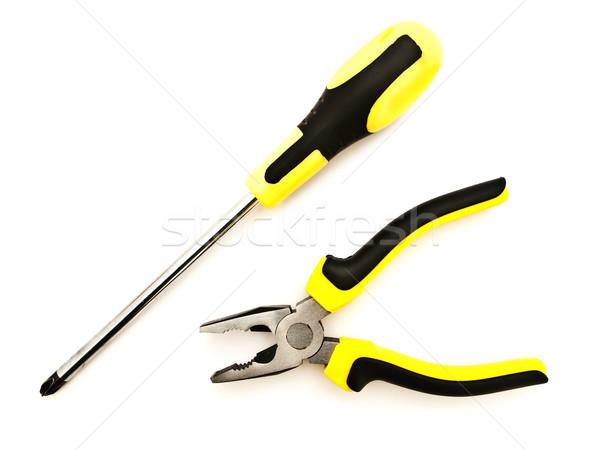 отвертка белый работу промышленных объект ключа Сток-фото © SRNR